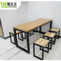 定制深圳鸭血粉丝连锁店简餐快餐桌实木餐桌椅 实木小椅子