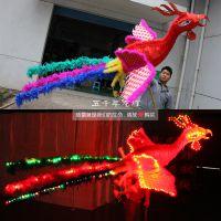 舞凤凰 五千年龙灯灯光龙舞龙舞狮民间工艺品凤凰道具大型凤凰