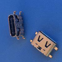 TYPE-C 母座 沉板0.6 0.8 1.0 1.2 2.0mm 四脚插板 带弹 6P16P24P
