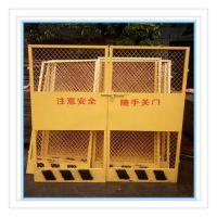 厂家现货直销建筑施工电梯门 电梯门井口防护门 电梯安全防护门