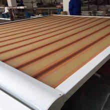 测量安装阳光房电动遮阳帘 隔热天幕棚 遮雨遮阳棚
