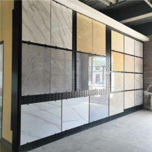 菏泽冲孔板展示架@陶瓷货架网孔板@800瓷砖展板