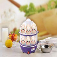 迷你不锈钢蒸蛋器自动断电双层煮蛋器多功能煎蛋促销礼品批发定制