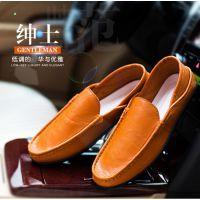 新款韩流休闲皮鞋时尚简约男鞋青年学生校园郊外舒适皮鞋子单鞋