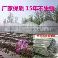 江西蔬菜连体棚用大棚材料 GP832热镀锌钢管连体大棚用全套配件