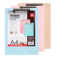 得力9225书写板夹A4彩色木板夹菜单夹可挂阅读文件夹板写字垫写板