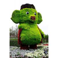 花园广场植物雕塑 大型仿真花造型绿雕 主题草雕