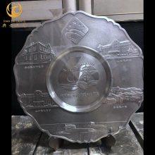 北京工商联商会纪念牌,纯锡商会会长,会员单位大会奖盘定制厂家