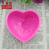 单个心形模具玫瑰花图案手工皂肥皂硅胶模具厂家批发零售一件代发