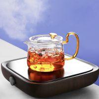 耐高温防爆玻璃彩把茶壶家用加热过滤水壶小青柑耐热泡茶壶公道杯