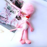 粉红豹钥匙扣女韩国可爱创意毛绒公仔玩偶包包挂饰顽皮豹书包挂件