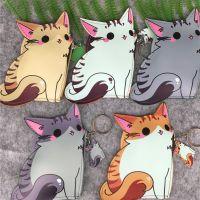 日系可爱动物系列 猫咪后院 小猫造型PU皮彩印零钱包 卡套挂饰