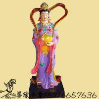 河南 佛教佛像工艺品厂批发2米以上玉皇女儿七仙女树脂神像