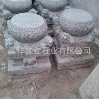 供应仿古做旧石门墩 古建柱基石鼓 寺院石顶石 可定做