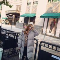2018秋冬款女装中长款棉衣面包服羽绒超轻大鹅宽松羽绒服定制加工