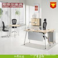 深圳厂家直销 MDF办公桌椅中班台大班台老板办公台经理办公桌定做