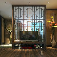 黑橡木雕花屏风烤漆屏风隔断柜烤漆门厅柜玄关柜个性间厅柜定制