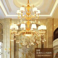 欧式水晶吊灯大气奢华客厅卧室灯锌合金蜡烛餐厅灯酒店别墅灯具