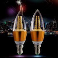 佳素 led灯泡5w拉尾泡蜡烛灯小螺口E14尖泡暖光超亮OLB-235