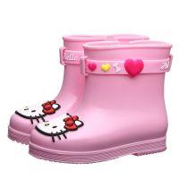 儿童雨鞋女童防滑水鞋小童Kitty宝宝雨靴E幼儿学生胶鞋一件代发