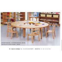 厂家定制批发幼儿园木制配套设施幼儿园来图定制实木课桌椅餐桌椅
