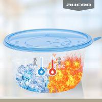 一次性打包碗透气孔吸塑碗火锅外卖打包塑料圆形透明快餐饭盒