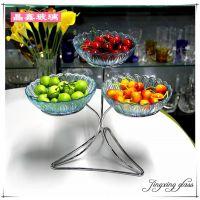 酒店早餐冷餐会自助餐厅餐具器皿展示水果凉咸菜玻璃盘架子多三层