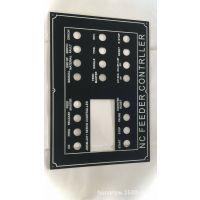 厂家热销拉丝黑极氧化铝面板,机械控制面板,铝腐蚀铭牌,设备标