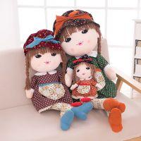啵妞女孩布娃娃毛绒玩具陪睡娃娃创意可爱玩偶生日礼物厂家直销