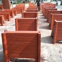 景观道路装饰专用水泥仿木花箱花桶 组合花池