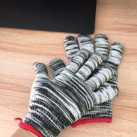 园区厂家直销13针尼龙防滑耐磨花尼龙手套 花色作业劳保手套