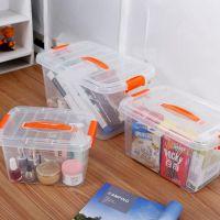 透明塑料收纳箱玩具收纳盒食品级收纳盒零食杂物整理箱玩具包装盒