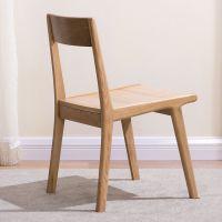 健匠实木餐椅简约餐桌餐椅组合白橡木电脑椅北欧休闲餐厅日式家具