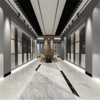 瓷砖展厅效果图 瓷砖架子展示板效果图 珠海地板砖600展示柜