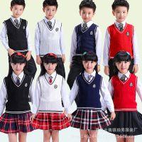 元旦儿童演出服中小学生大合唱表演服长袖诗歌朗诵服针织马甲校服