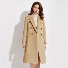 批发呢子大衣女冬季双面羊绒中长款系带过膝韩版显瘦宽松毛呢外套