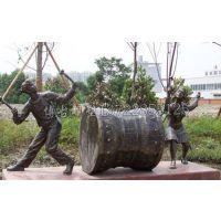 铸铜人物 演奏打鼓铸铜人物 广场铜像摆件 博古雕塑