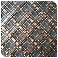 不锈钢金属编织网/扁条扁丝编织钢丝网/隔断酒吧售楼部钢丝装饰铁丝网