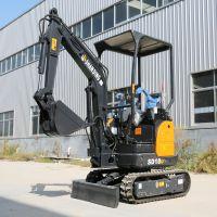 江西南昌1.8T微型挖掘机室内外拆除 小挖土机 开沟机工作视频