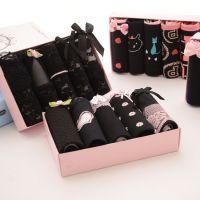 黑色内裤女性感蕾丝低腰日系韩版少女高中学生三角裤公主礼盒