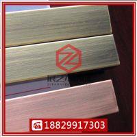 304玫瑰金方管优质拉丝不锈钢钛金方管
