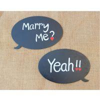情侣手拿对牌新款影楼婚纱摄影道具外景婚纱照 英文黑色字母板