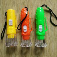 水晶头电筒 款式随机发货LED挂绳照明电筒 2元店精品