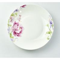 唐山瓷亿美 批发陶瓷餐具 家用8寸饭盘骨瓷水果盘酒店蛋糕盘子礼品碗盘碟定制