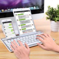 富德无线蓝牙键盘安卓苹果ipad平板电脑手机通用迷你便携充电键盘