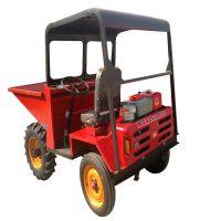 简单型燃油自卸四轮车 菜地松软地面前卸式翻斗车 九江茶园上山拉货车