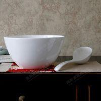 摆件景德镇陶瓷纯白骨瓷澳碗面碗大汤碗饭店可用大饭碗