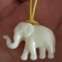 厂价直销亚克力象牙吊孔吊坠大象珠DIY手项链饰品配件树脂小象珠