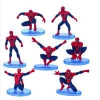 蛋糕造型可爱热销7款蜘蛛侠公仔超级英雄手办模型摆件Spider-Man