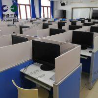 英语教室听说机考升降屏风电脑桌